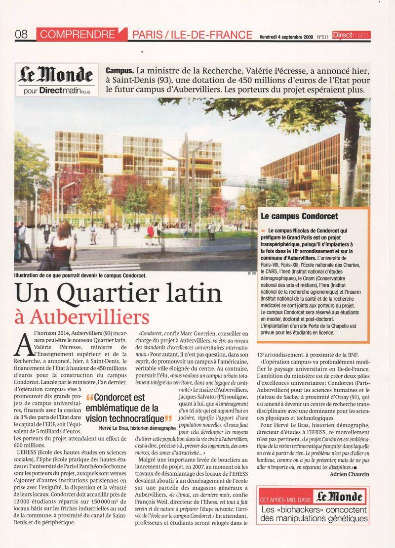Futur Campus d'Aubervilliers