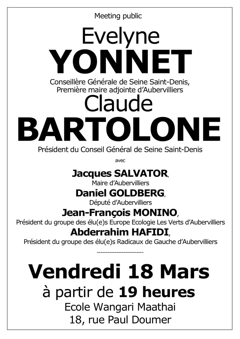 Affichette A3 meeting 18 mars