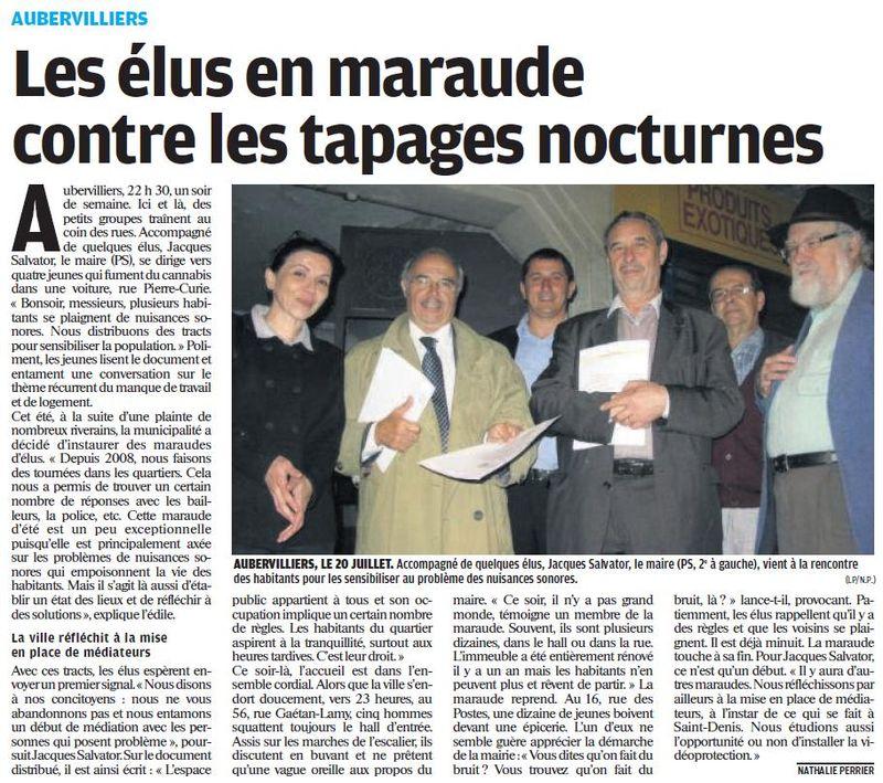 Article Le Parisien Maraude