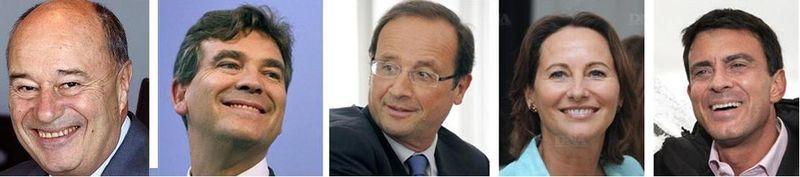 Hollande et ses soutiens