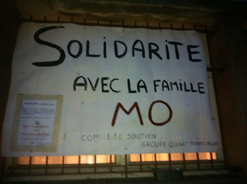 Les miltants socialistes en soutien a Mo