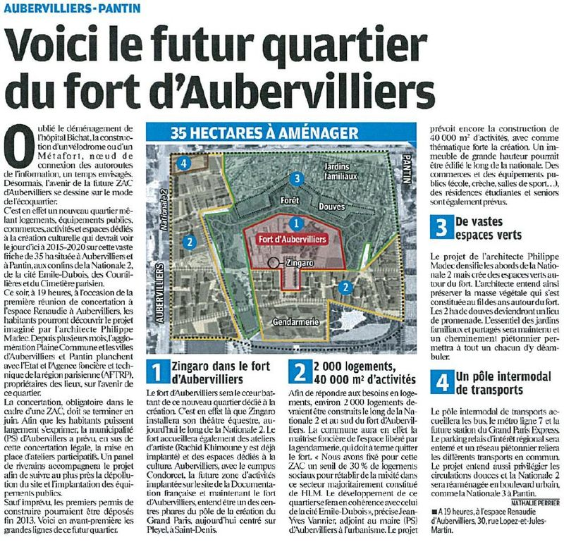 Projet Fort Aubervilliers