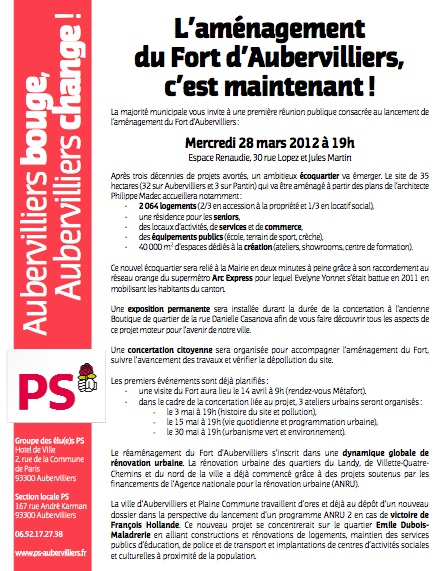 Tract fort d aubervilliers